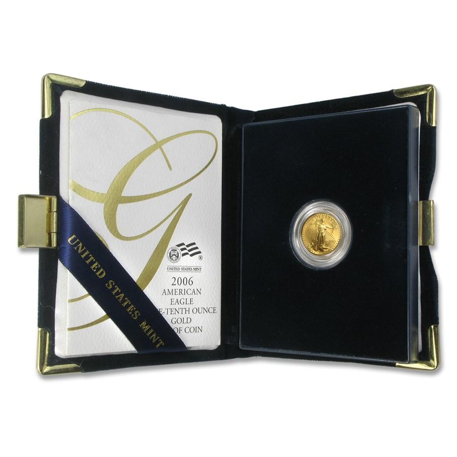2006-W 1/10 oz Proof American Gold Eagle (w/Box & COA)