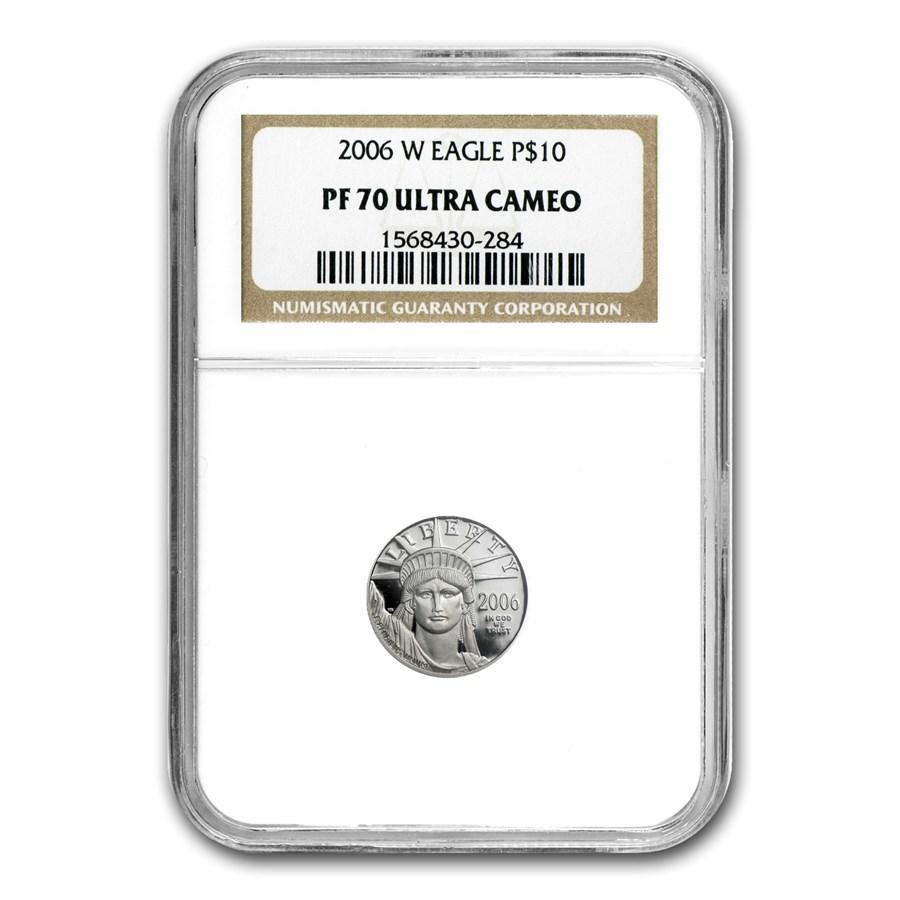 2006-W 1/10 oz Proof American Platinum Eagle PF-70 UCAM NGC
