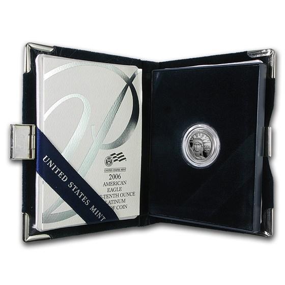 2006-W 1/10 oz Proof Platinum American Eagle (w/Box & COA)