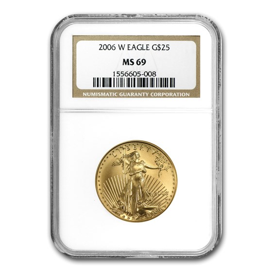 2006-W 1/2 oz Burnished American Gold Eagle MS-69 NGC