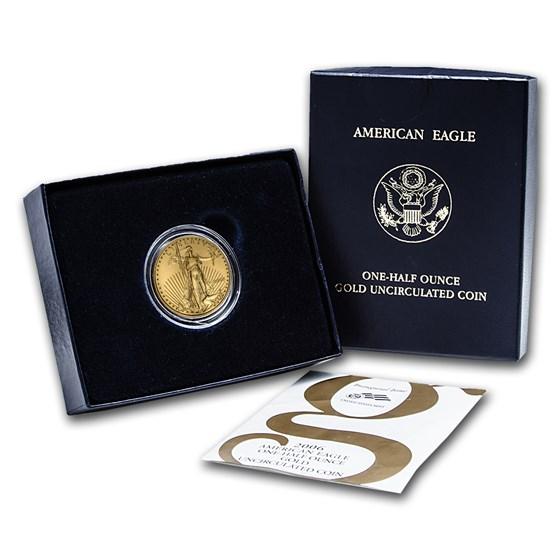 2006-W 1/2 oz Burnished American Gold Eagle (w/Box & COA)