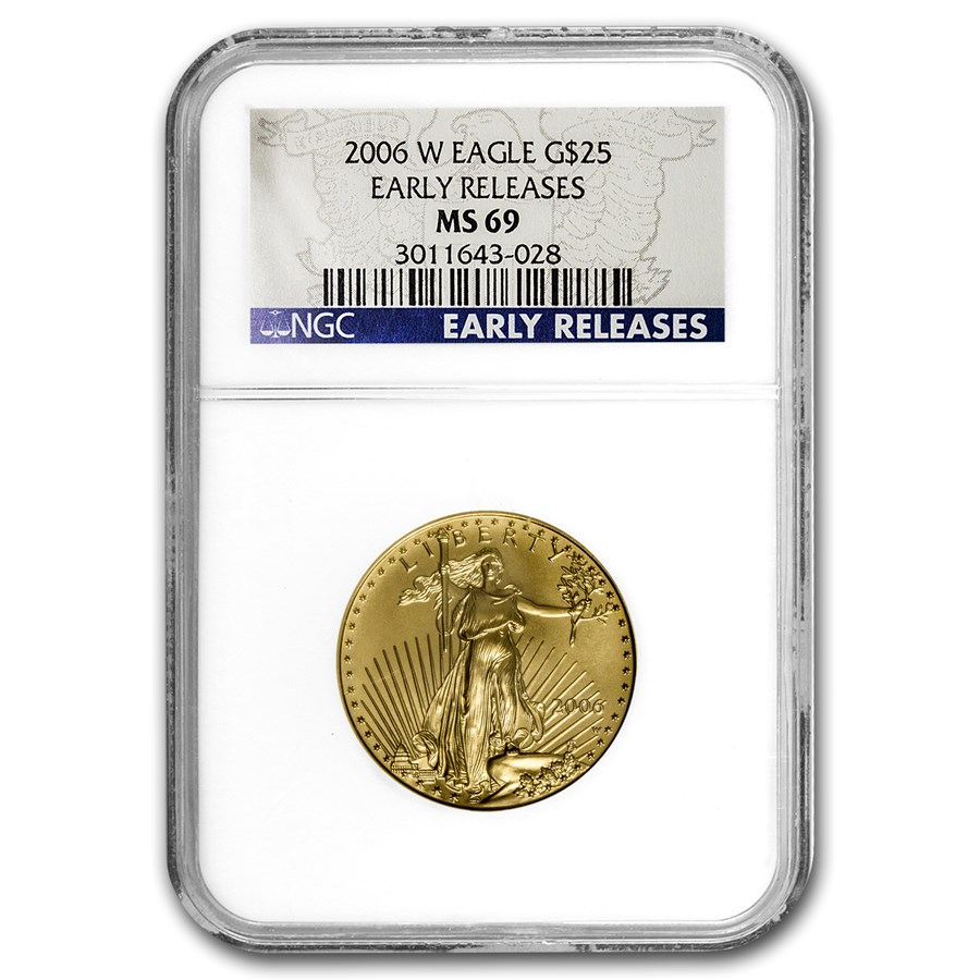 2006-W 1/2 oz Burnished Gold American Eagle MS-69 NGC (ER)
