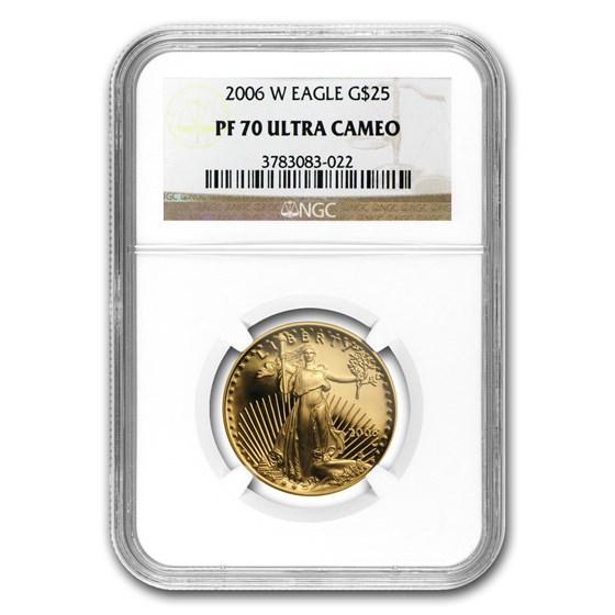 2006-W 1/2 oz Proof American Gold Eagle PF-70 UCAM NGC