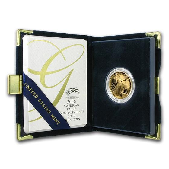 2006-W 1/2 oz Proof American Gold Eagle (w/Box & COA)