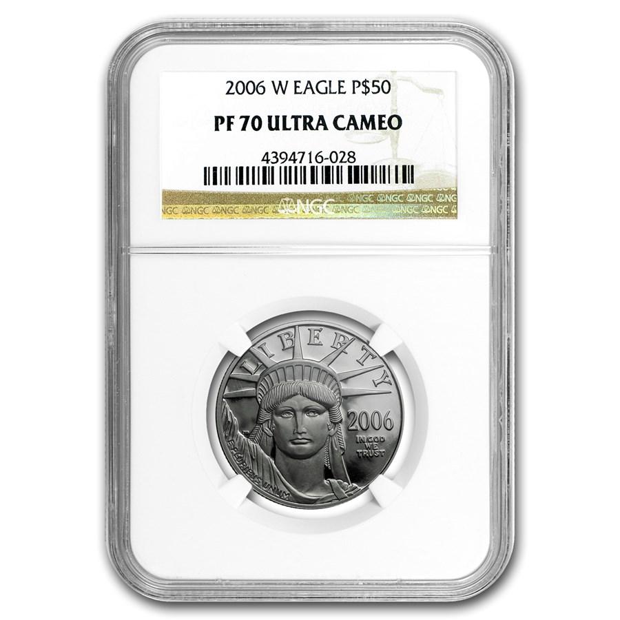 2006-W 1/2 oz Proof American Platinum Eagle PF-70 NGC