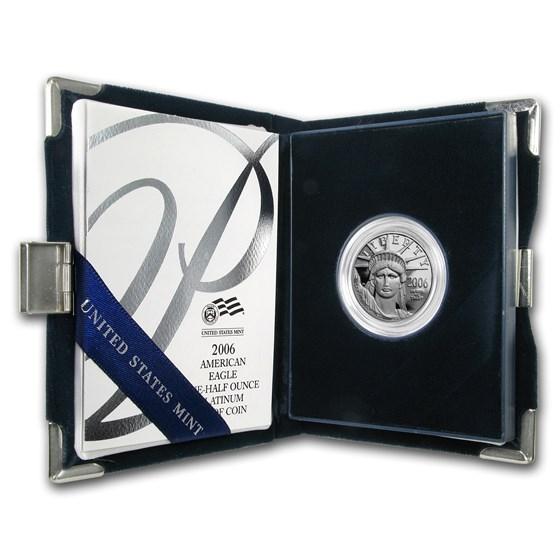 2006-W 1/2 oz Proof American Platinum Eagle (w/Box & COA)