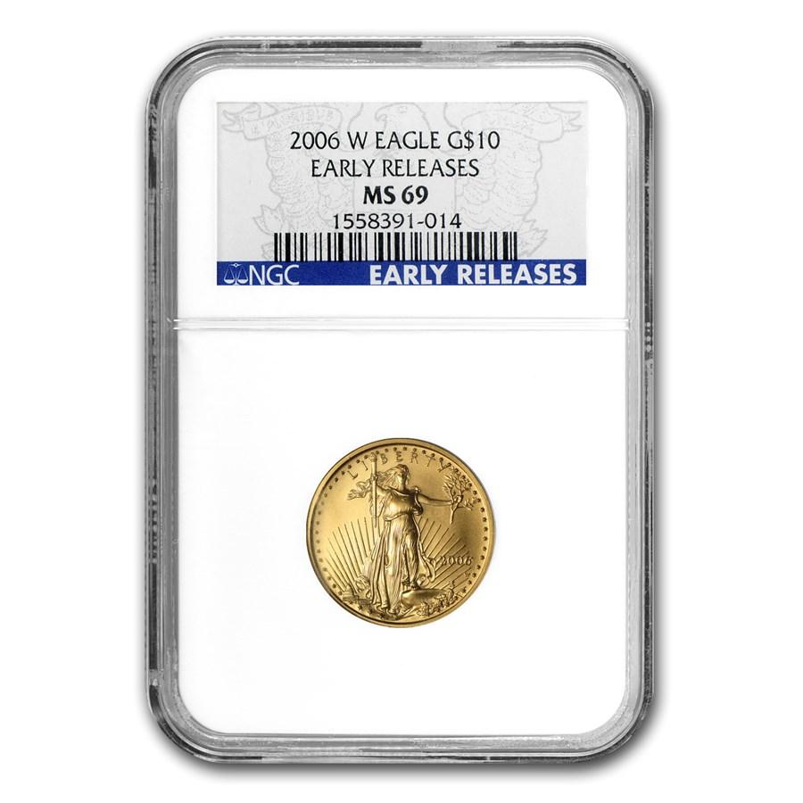 2006-W 1/4 oz Burnished American Gold Eagle MS-69 NGC (ER)