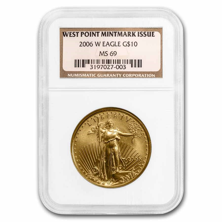2006-W 1/4 oz Burnished American Gold Eagle MS-69 NGC