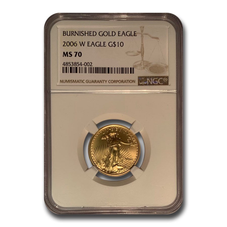 2006-W 1/4 oz Burnished American Gold Eagle MS-70 NGC