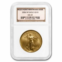 2006-W 1/4 oz Burnished American Gold Eagle MS/SP-69 NGC