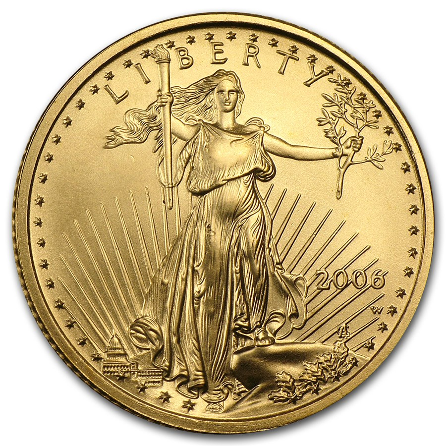 2006-W 1/4 oz Burnished American Gold Eagle