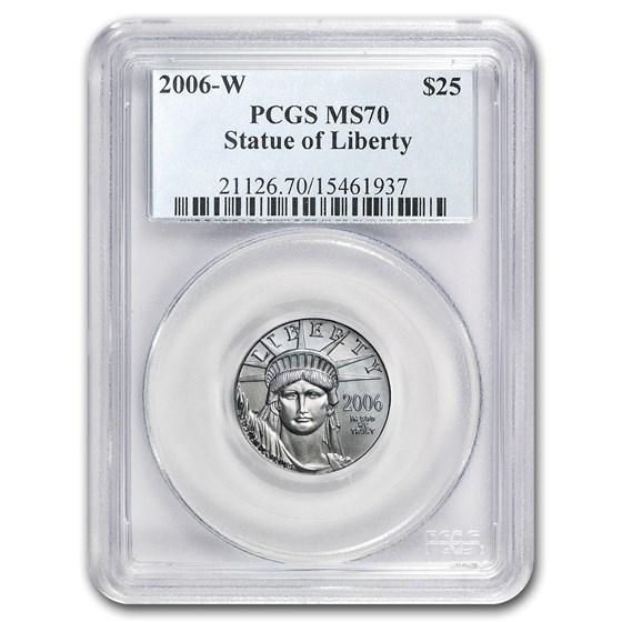 2006-W 1/4 oz Burnished American Platinum Eagle SP/MS-70 PCGS