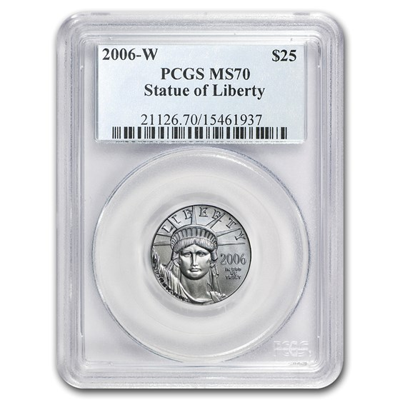 2006-W 1/4 oz Burnished Platinum American Eagle SP/MS-70 PCGS