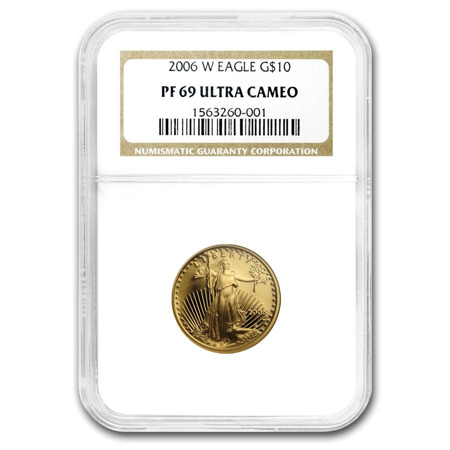 2006-W 1/4 oz Proof American Gold Eagle PF-69 UCAM NGC