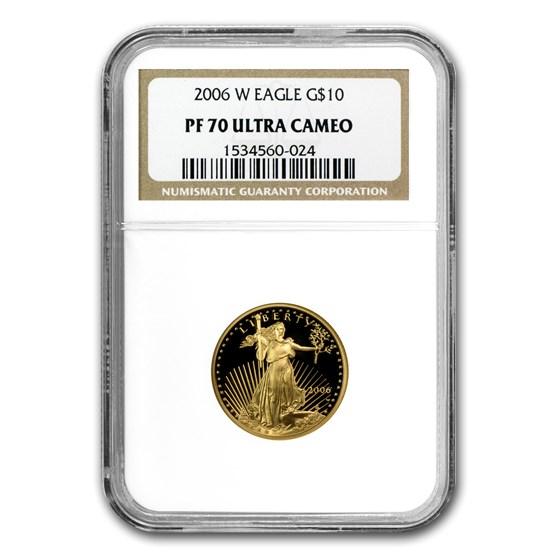 2006-W 1/4 oz Proof American Gold Eagle PF-70 NGC