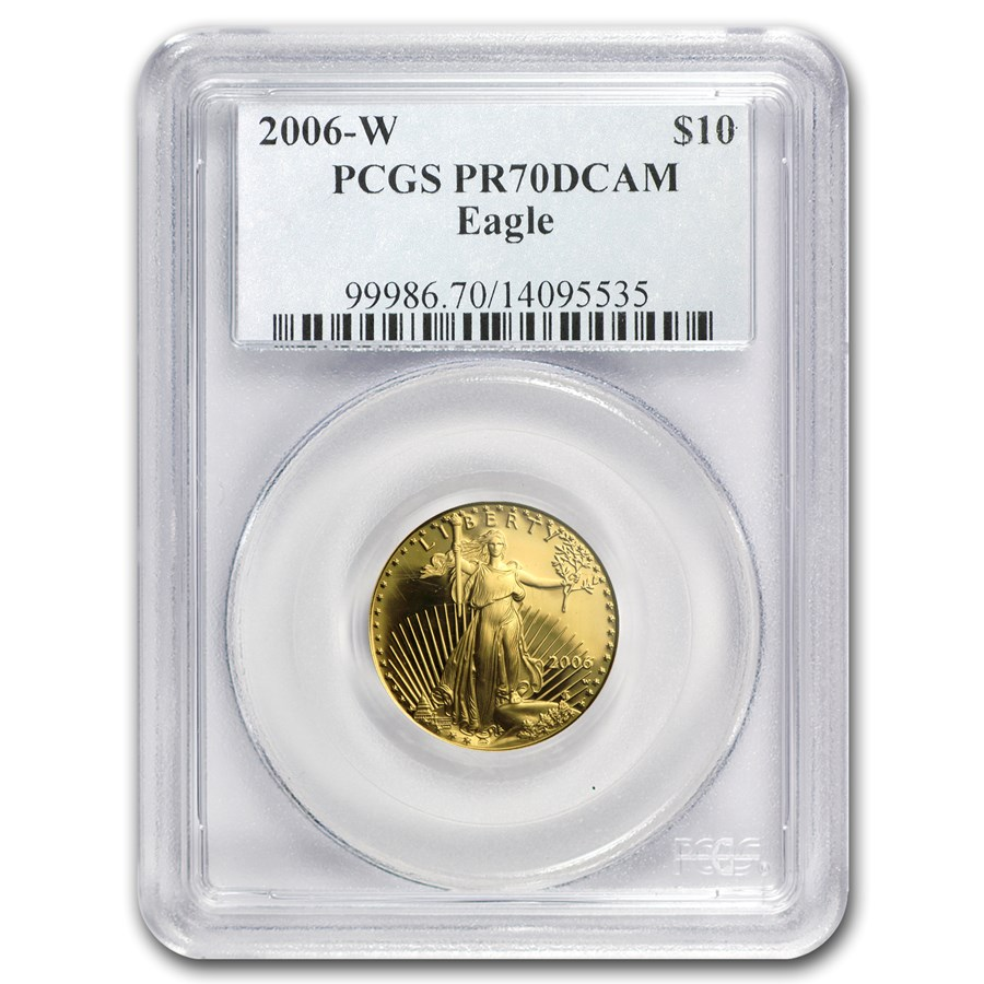 2006-W 1/4 oz Proof American Gold Eagle PR-70 PCGS