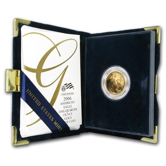 2006-W 1/4 oz Proof American Gold Eagle (w/Box & COA)