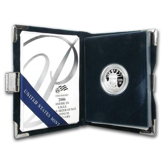 2006-W 1/4 oz Proof American Platinum Eagle (w/Box & COA)