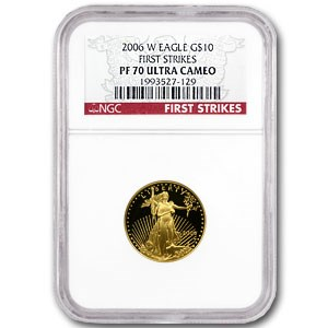 2006-W 1/4 oz Proof Gold American Eagle PF-70 NGC (First Strike)