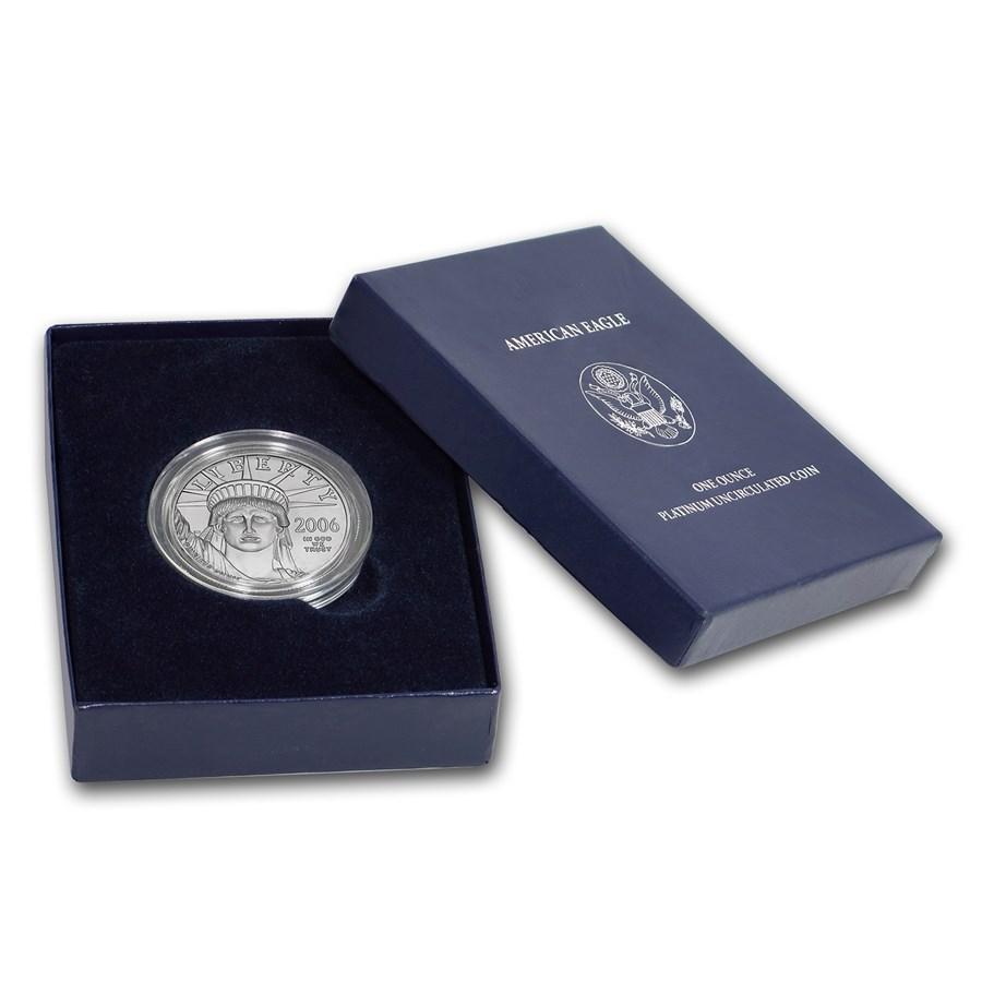 2006-W 1 oz Burnished American Platinum Eagle (w/Box & COA)