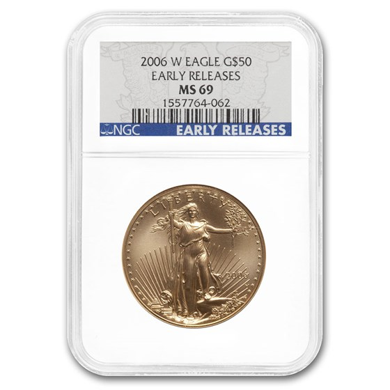2006-W 1 oz Burnished Gold Eagle MS-69 NGC (ER)