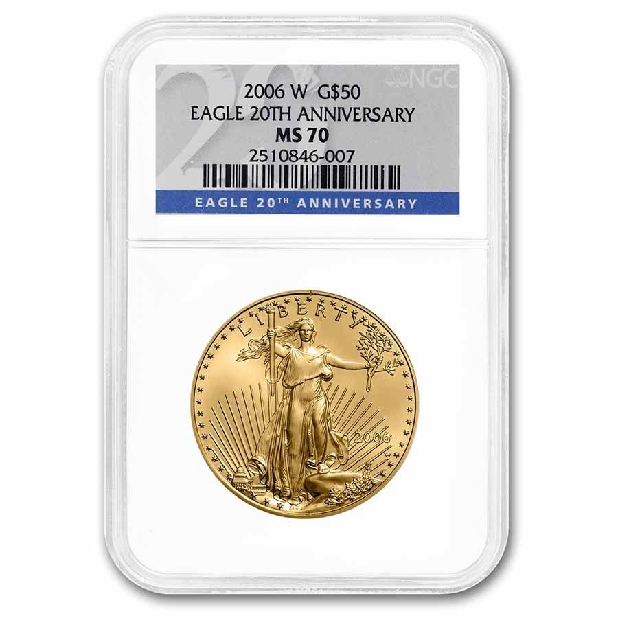 2006-W 1 oz Burnished Gold Eagle MS-70 NGC (Various Labels)