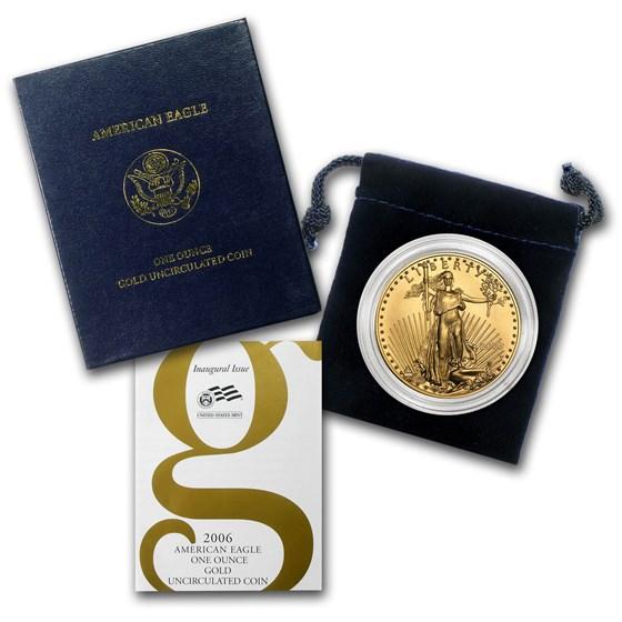 2006-W 1 oz Burnished Gold Eagle (w/Box & COA)