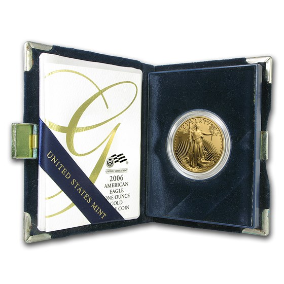 2006-W 1 oz Proof American Gold Eagle (w/Box & COA)