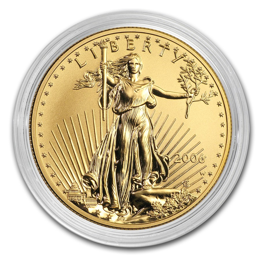 2006-W 1 oz Reverse Proof Gold American Eagle (Capsule Only)