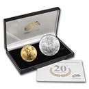 2006-W 2-Coin Burnished Gold & Silver Eagle Set (w/Box & COA)