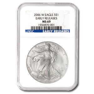 2006-W Burnished American Silver Eagle MS-69 NGC (ER)
