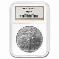 2006-W Burnished American Silver Eagle MS-69 NGC