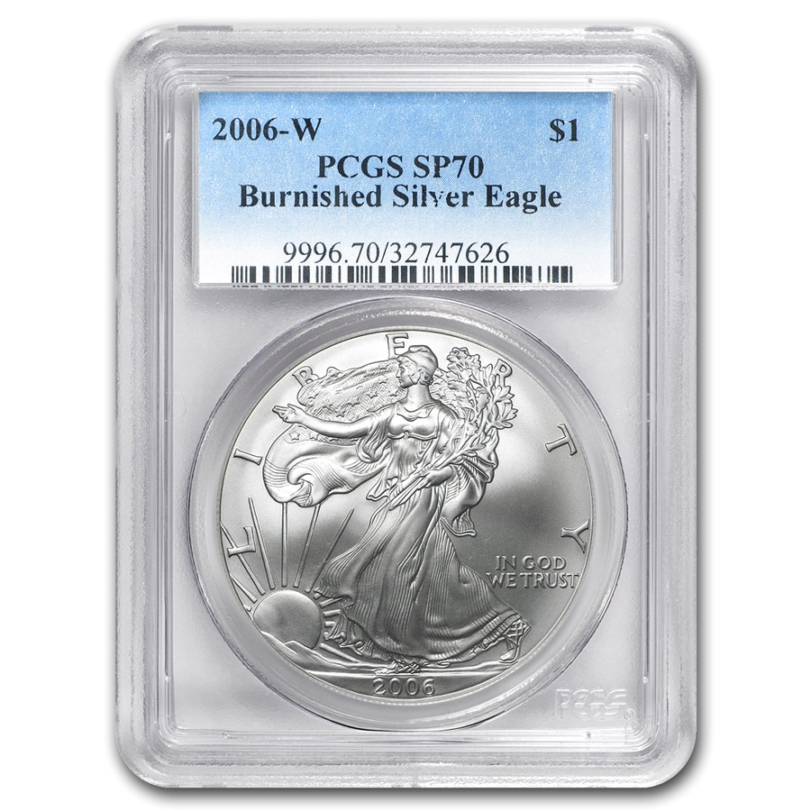 2006-W Burnished American Silver Eagle SP/MS-70 PCGS