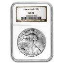 2006-W Burnished Silver American Eagle MS-70 NGC