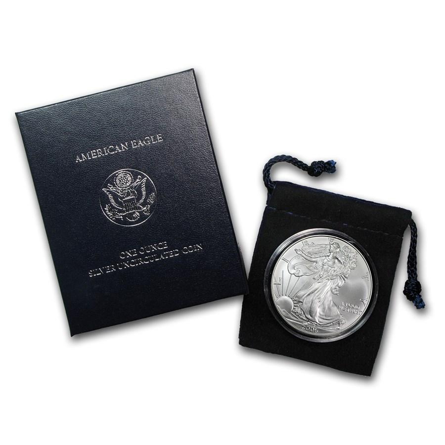 2006-W Burnished Silver American Eagle (w/Box & COA)