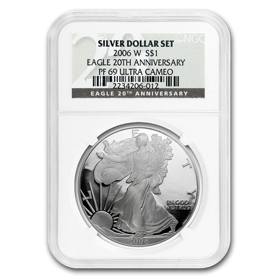 2006-W Proof American Silver Eagle PF-69 NGC (20th Anniv)