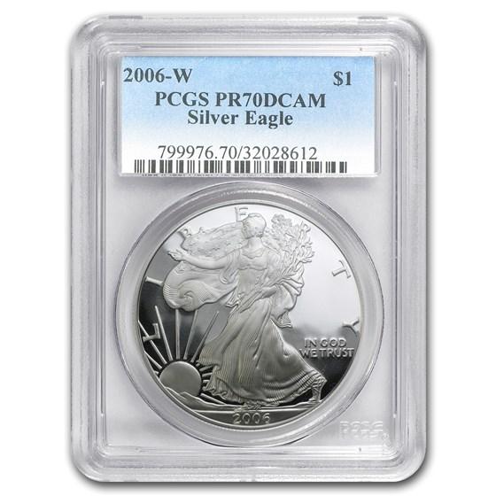 2006-W Proof American Silver Eagle PR-70 PCGS