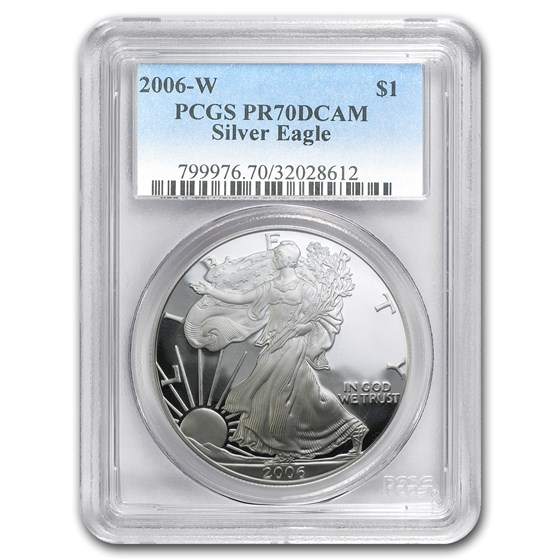 2006-W Proof Silver American Eagle PR-70 PCGS