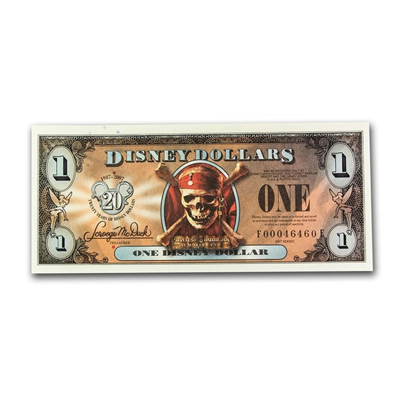 2007 $1.00 Disney Pirates of the Caribbean Gem CU (Radar Note)