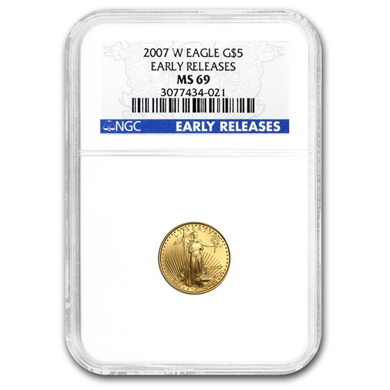 2007 1/10 oz American Gold Eagle MS-69 NGC (Early Releases)