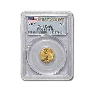 2007 1/10 oz American Gold Eagle MS-69 PCGS (FS)