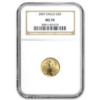2007 1/10 oz American Gold Eagle MS-70 NGC
