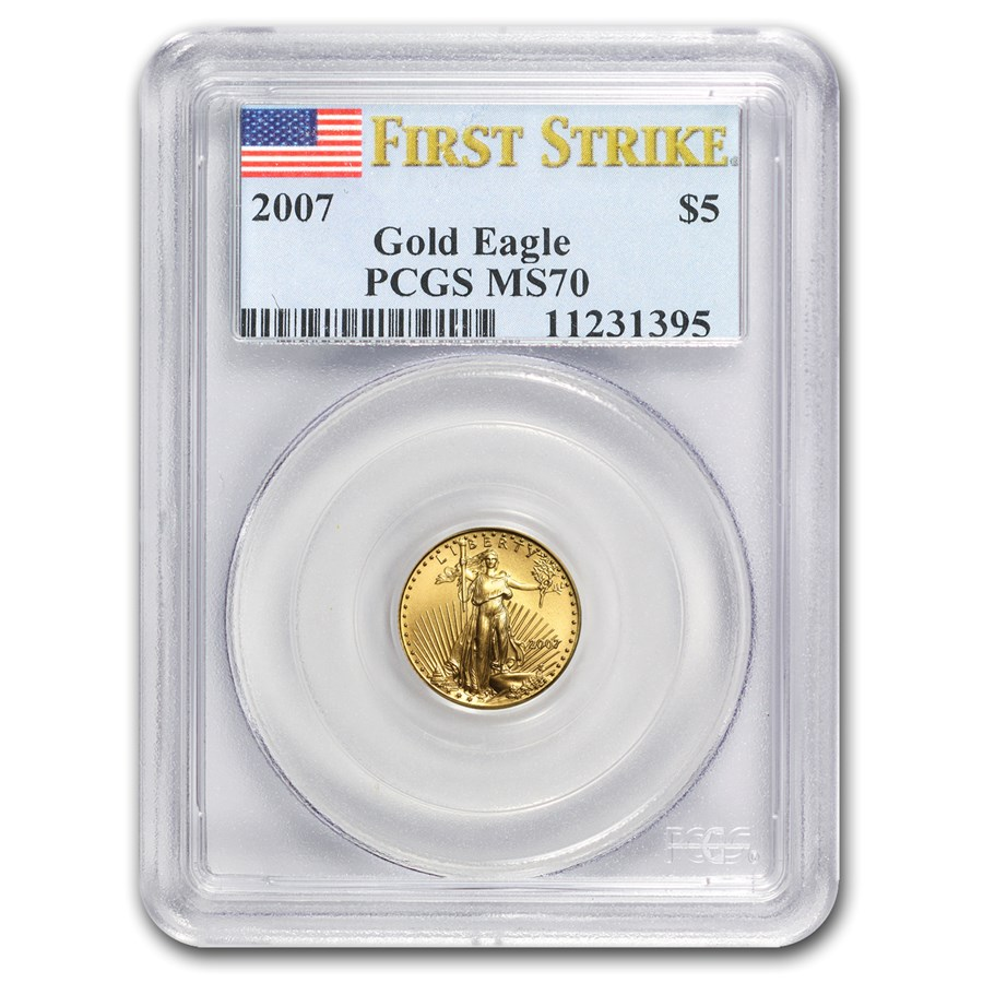2007 1/10 oz American Gold Eagle MS-70 PCGS (FS)
