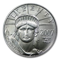 2007 1/10 oz American Platinum Eagle BU