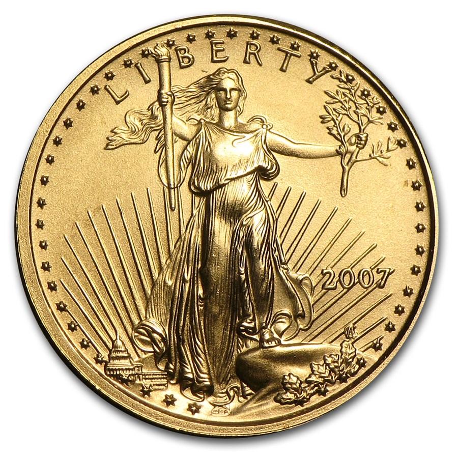 2007 1/10 oz Gold American Eagle BU