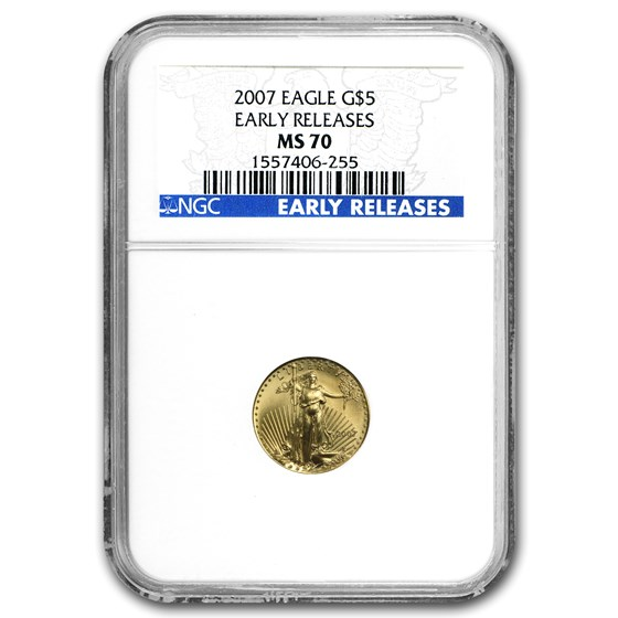 2007 1/10 oz Gold American Eagle MS-70 NGC (Early Releases)
