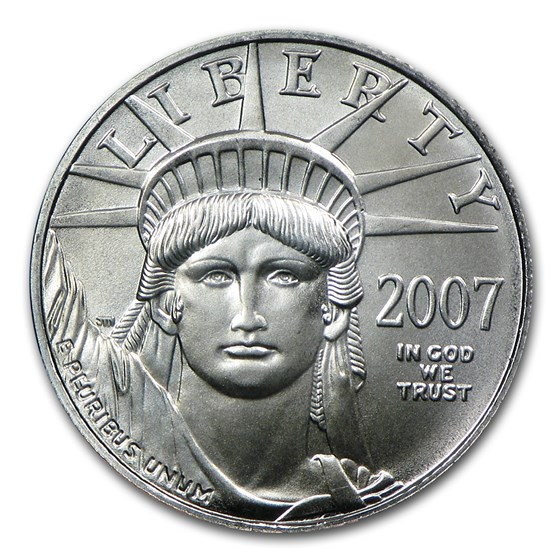 2007 1/10 oz Platinum American Eagle BU
