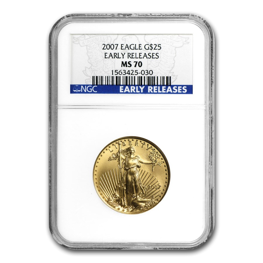 2007 1/2 oz American Gold Eagle MS-70 NGC (Early Releases)
