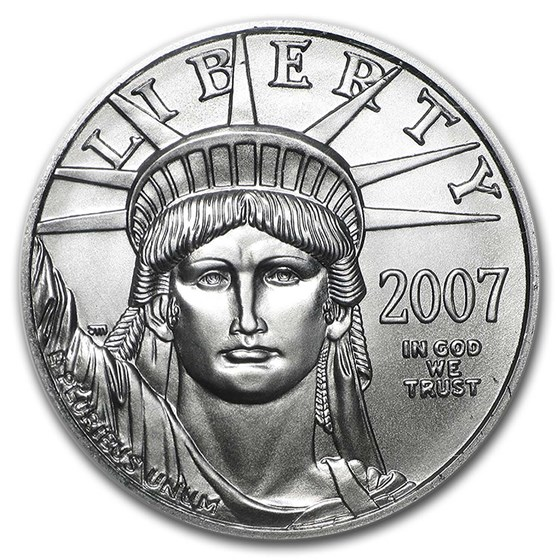 2007 1/2 oz American Platinum Eagle BU