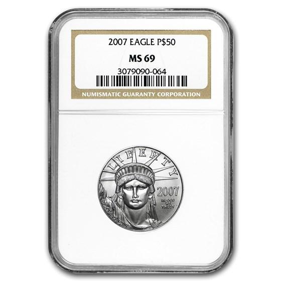 2007 1/2 oz American Platinum Eagle MS-69 NGC